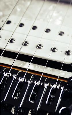 Electic guitar focus