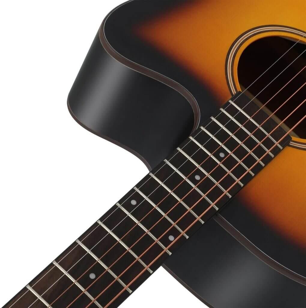 Donner acoustic cutaway guitar