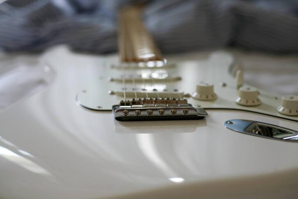 Restring a guitar