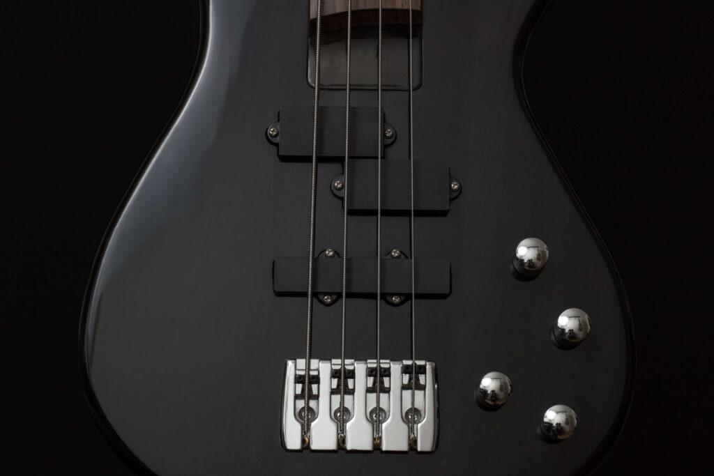 Bass guitar black